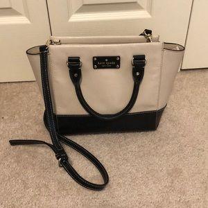 Kate Spade cross-body bag, cream/black